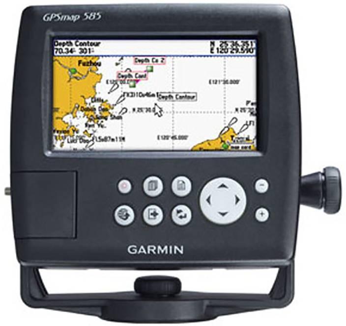 Garmin MAP-585 Marine Eco Sounder And Tranducer GPS Device
