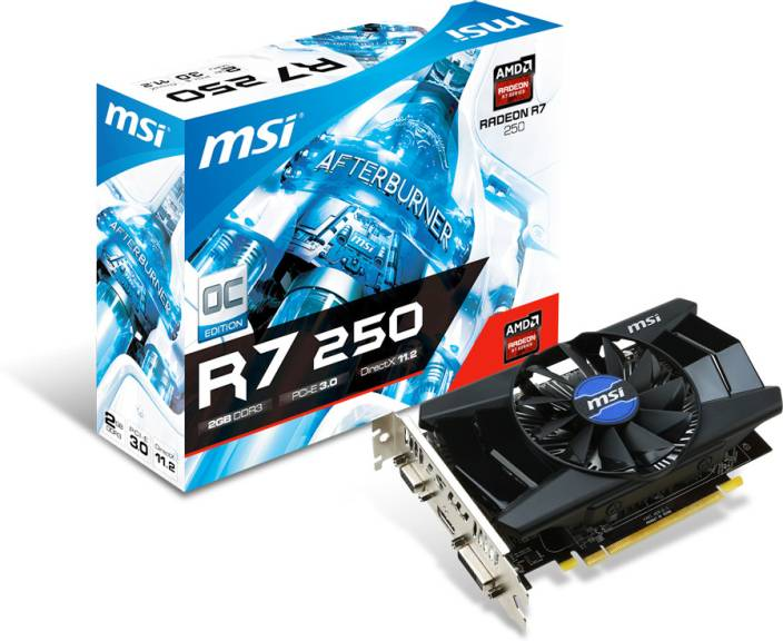 MSI AMD/ATI R7 250 2GD3 OC 2 GB DDR3 Graphics Card
