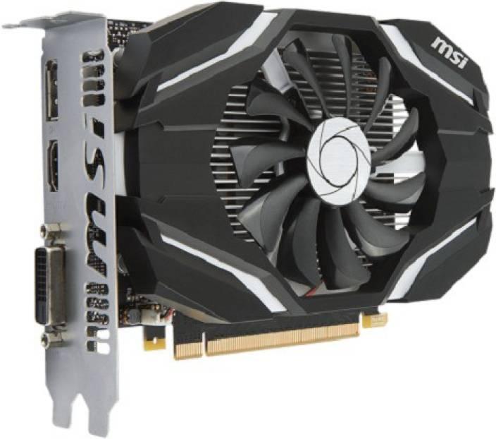 MSI NVIDIA GeForce GTX 1050 Ti 4G OC 4 GB GDDR5 Graphics Card