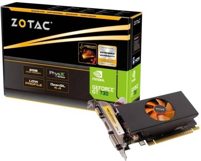 Zotac NVIDIA GT 730 2GB 2 GB DDR5 Graphics Card
