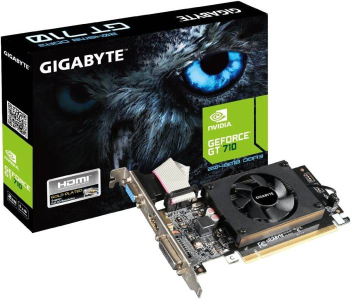 Gigabyte NVIDIA GeForce GT 710 2 GB DDR3 Graphics Card