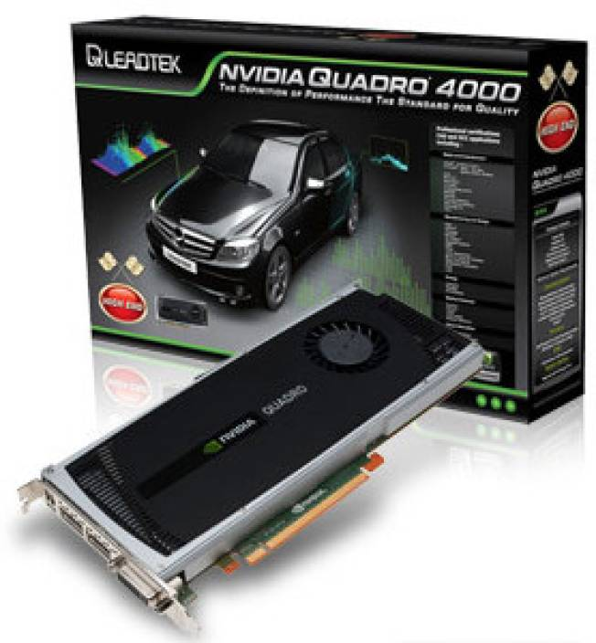 Leadtek NVIDIA Quadro 4000 PCI-E 2 GB DDR5 Graphics Card