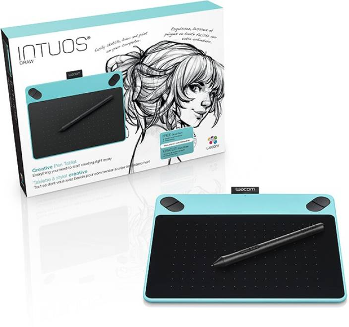 WACOM Intuos Draw Pen Only (Small) - Mint Blue CTL-490/B0-CX 8 3 x 6 7 inch  Graphics Tablet