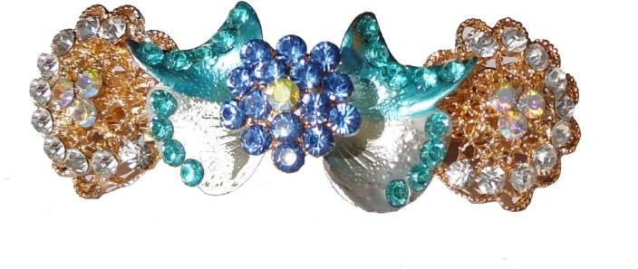 Shreya Collection Fashion Multi Colour Stone Studded Hair Clip Back Pin
