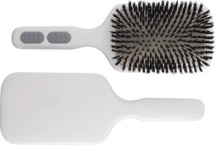 Kent AHP12 Pure Bristle Extra Large Paddle Brush - White