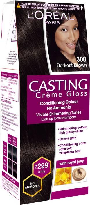 6ab89e91f L Oreal Paris Casting Creme Gloss Hair Color (Darkest Brown 300)