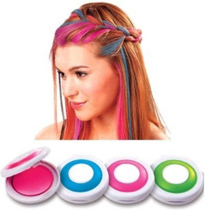 Swarish Set of 4 Colors Temporary Hot Huez Hair Color
