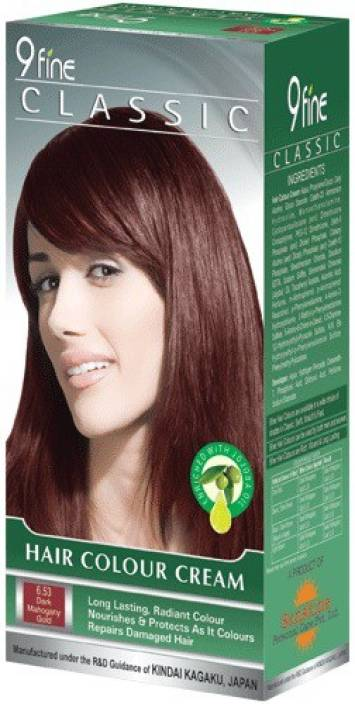 9 Fine Hair Color-6.53 Dark Mahogany Gold Hair Color - Price ...