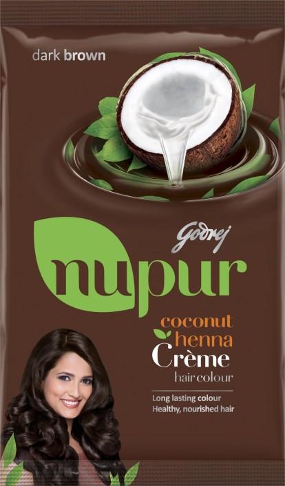 godrej nupur coconut henna crème hair colour natural black