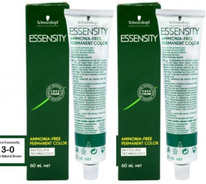 Schwarzkopf Essensity Ammonia Free Permanent Pack of 2 Hair Color