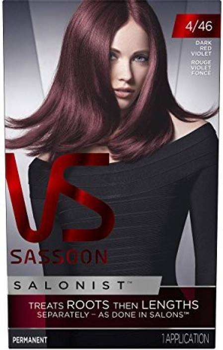 Vidal Sassoon Permanent Salonist 446 Dark Red Violet Hair Color