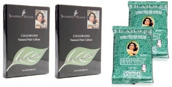Shahnaz Husain Colourveda & Forever Henna Precious Herb Hair Color