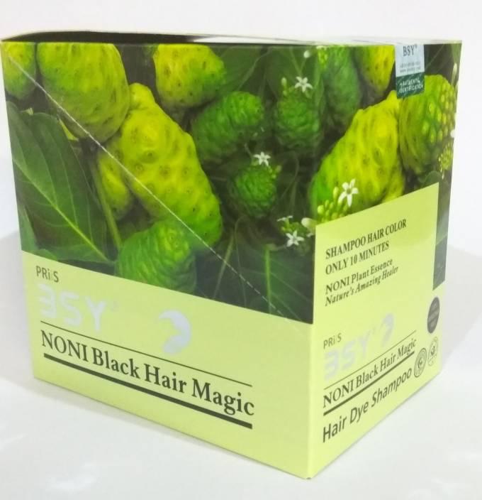 BSY Noni Organic Dye Shampoo Hair Color (Natural Black)