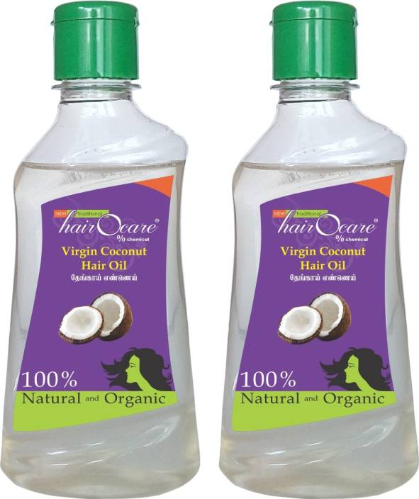 Hairocare Virgin Coconut - Healthiest one on the earth - Pack of 2 x 200 ml Hair Oil