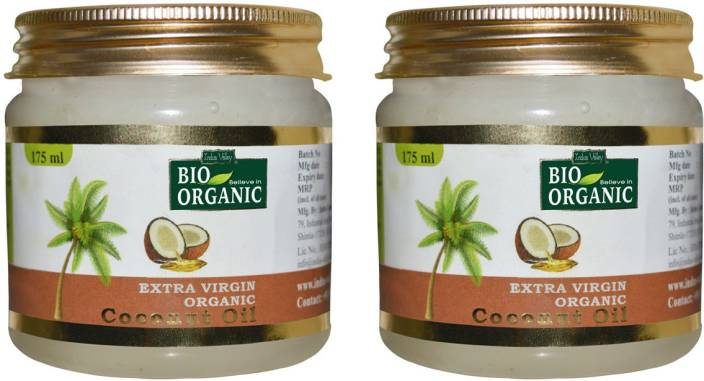 Indus Valley BIO Organic Extra Virgin Coconut Oil - Twin Pack Hair Oil