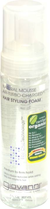 Giovanni Natural Mousse Air-turbo Charged Hair Styling Foam Hair Styler