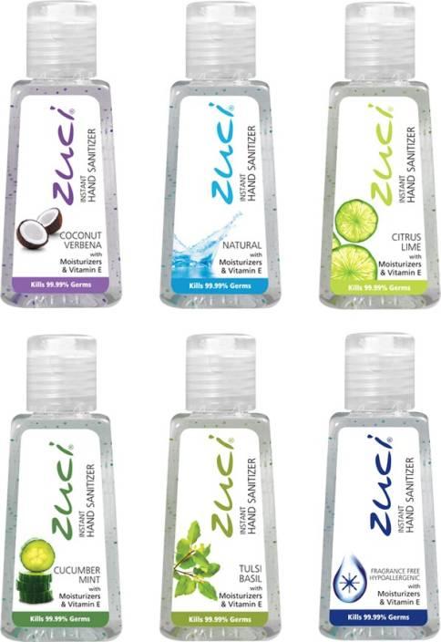Zuci Natural 30ml Natural Hand Sanitizer 72 Units - Assorted variants
