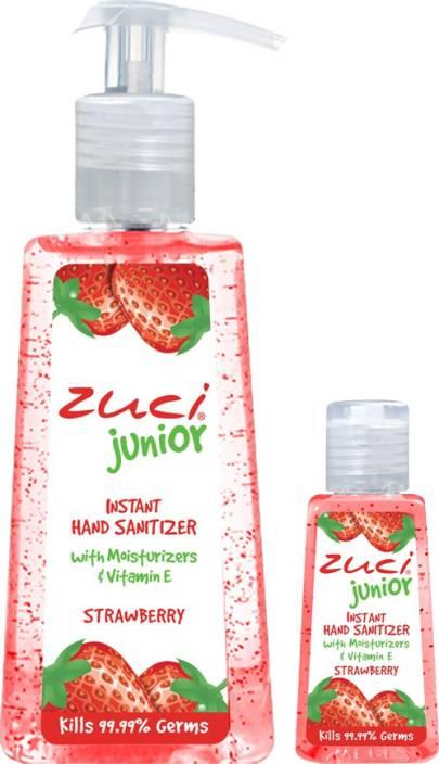 Zuci Pack Of 250 Ml & 30 Ml Hand Sanitizer- Strawberry