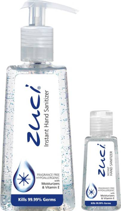 Zuci PACK OF 250 ML & 30 ML HAND SANITIZER- FRAGRANCE FREE