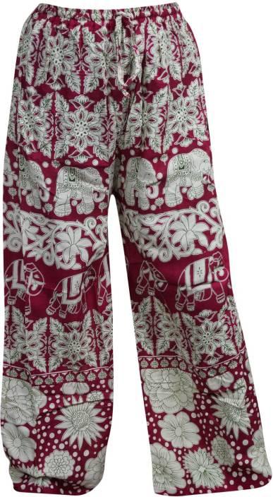 Indiatrendzs Printed Rayon Women's Harem Pants