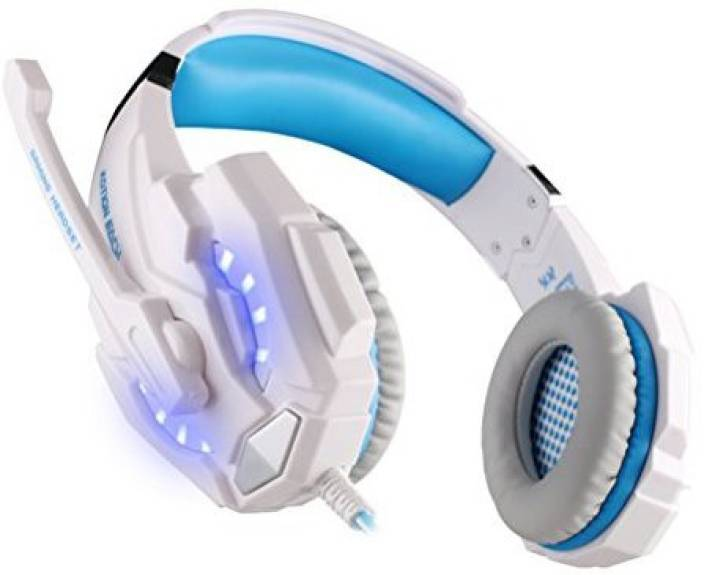 Foxnovo Kotion Each G9000 3.5Mm Game Gaming Headphone Headset With Microphone Led Light For Laptop Tablet Mobile Phone (+Blue) Headphone