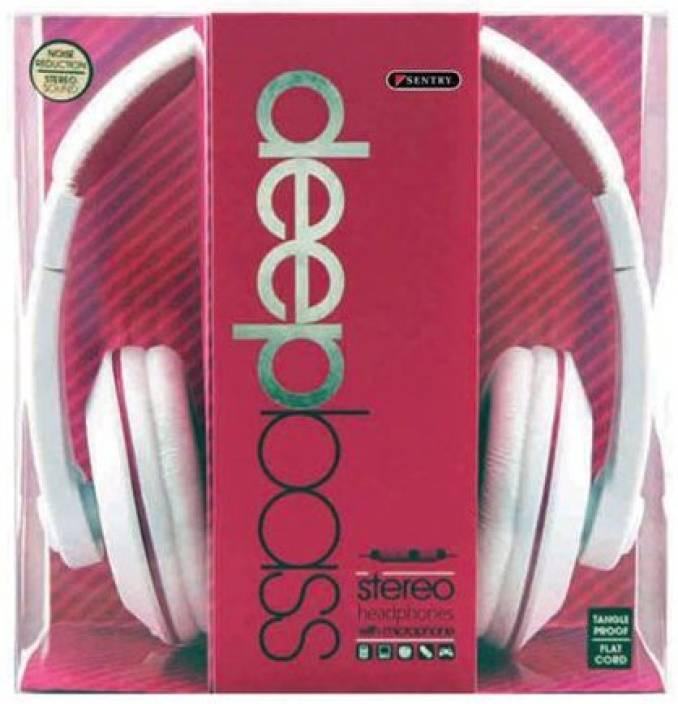 Sentry Industries Inc. Hm963 Deep Bass Stereo Headphones With Mic Headphone