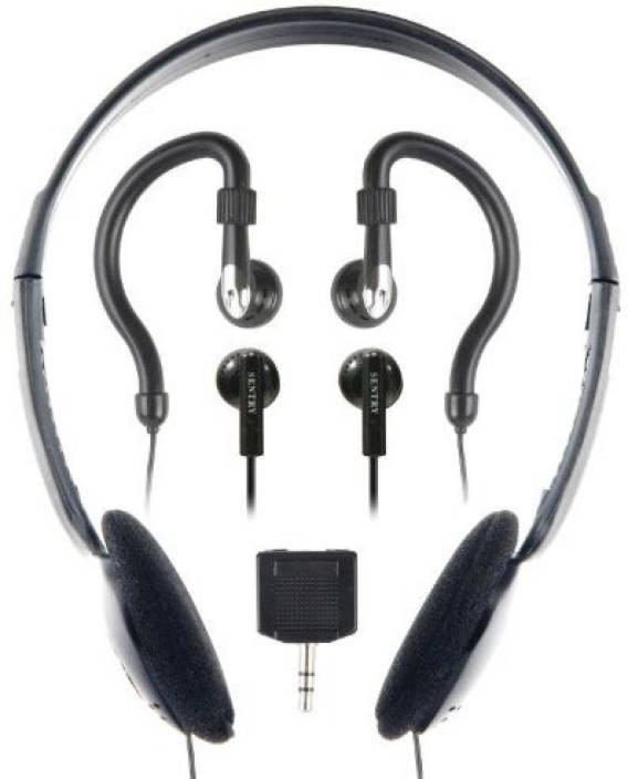 Sentry Industries Inc. Sentry Ho894 Headphone With 2-Way Splitter Plug - 3 Pack Headphone
