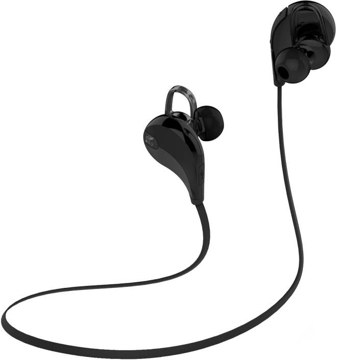 7cb6e615c67 SoundPeats Soundpeats bluetooth headphone QY7 Bluetooth Headset with Mic  (Black, In the Ear)