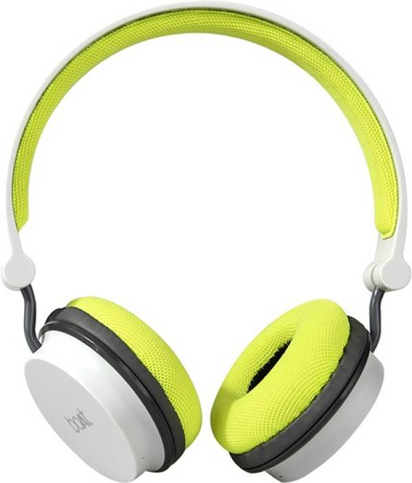 e1039d39a30 boAt Rockerz 400 Super Extra Bass Bluetooth Headset with Mic (Grey, Green,  On the Ear)
