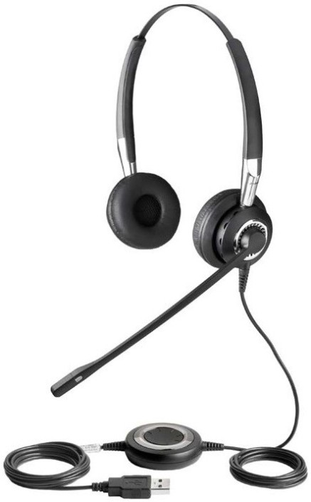 Jabra Biz 2400 Ms Usb Duo Wired Headset With Mic Price In India