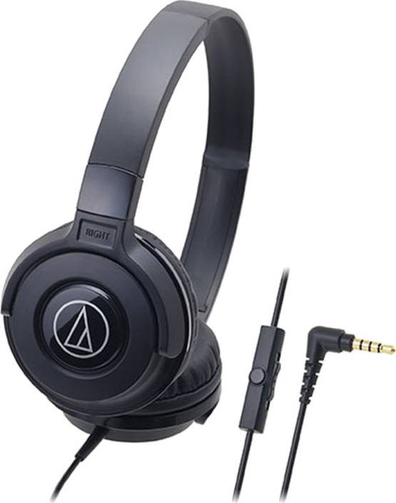 Audio Technica ATH-S100iS BK Wired Headset with Mic