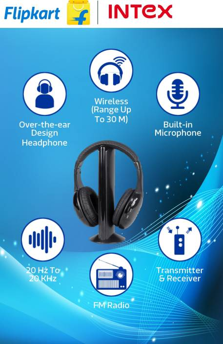 032a30cab7f Intex Wireless Roaming Headphone Price in India - Buy Intex Wireless ...
