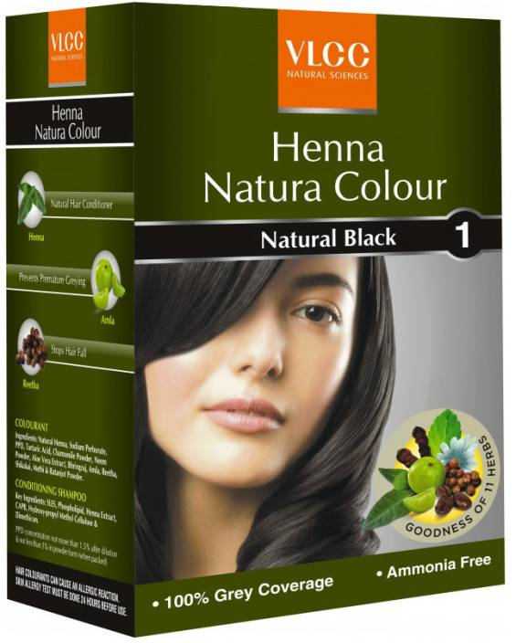 Vlcc Henna Natura Colour Black Price In India Buy Vlcc Henna