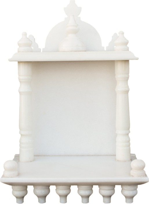EShilp Home Temple Pooja Mandir Small Size 13.5 Inches Marble Home Temple