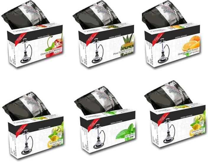 JaipurCrafts Xtreme Exotic Pack Of 6 Assorted Hookah Flavor