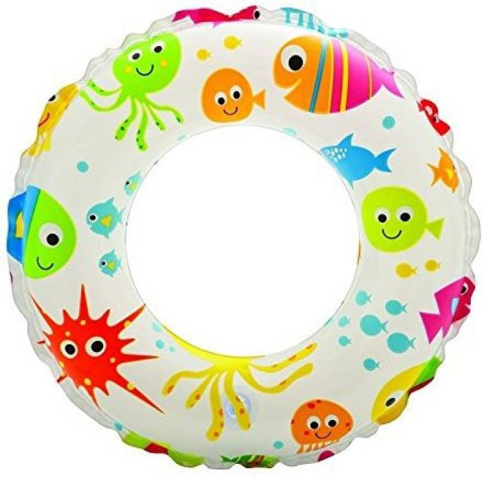 Intex Kids Circular Swim Ring Float Inflatable Size 61 cm, For Ages 6 - 10 Years