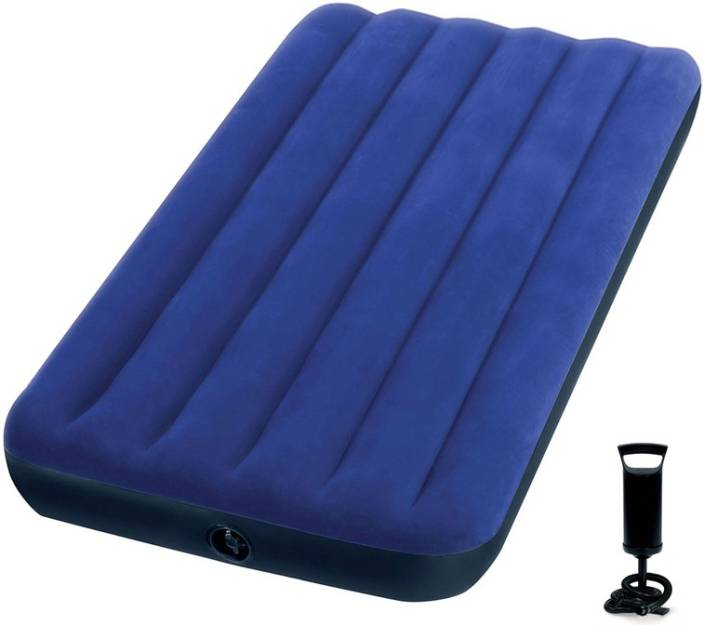 Inflatable Sofa Bed Flipkart: Intex VKI5468 Air Lock Pump With Single Inflatable Bed