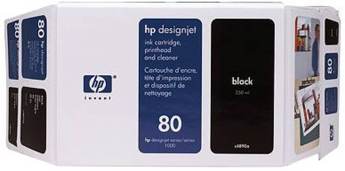 HP 80 350 ml Black Ink Cartridge
