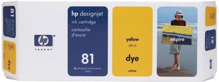 HP 81 680 ml Yellow Dye Ink Cartridge