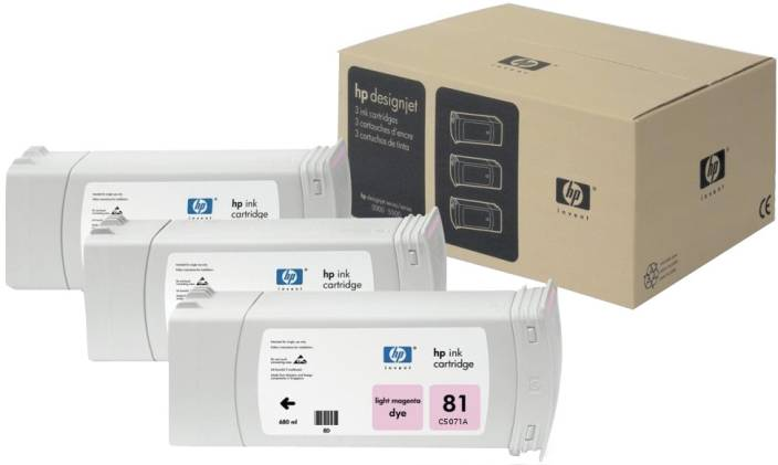 HP 81 3-pack 680-ml Light Magenta Dye Cartridges