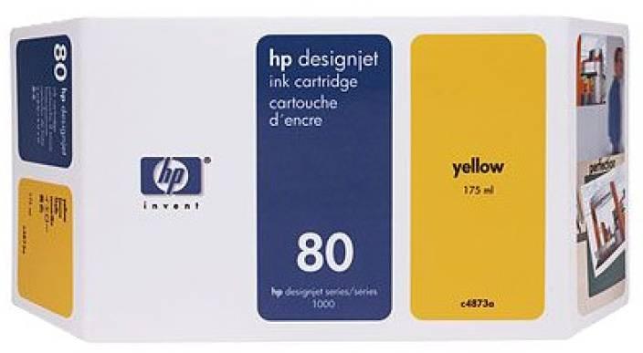 HP 80 350 ml Yellow Ink Cartridge