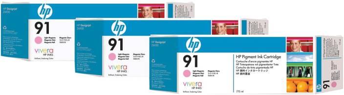 HP 91 3 pack 775 ml Light Magenta Pigment Ink Cartridges