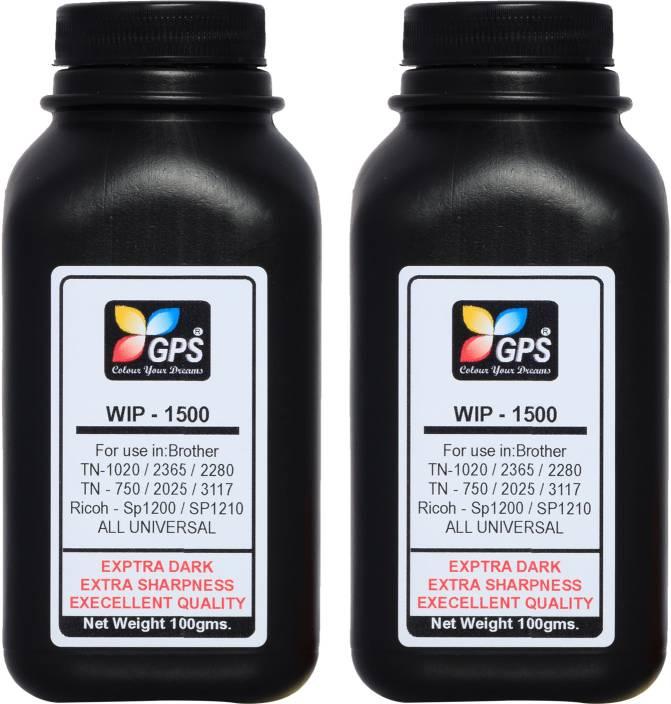 Gps Brother Cartridge Refill Toner Powder (100gm 2pc Pack) Single Color Ink  Toner