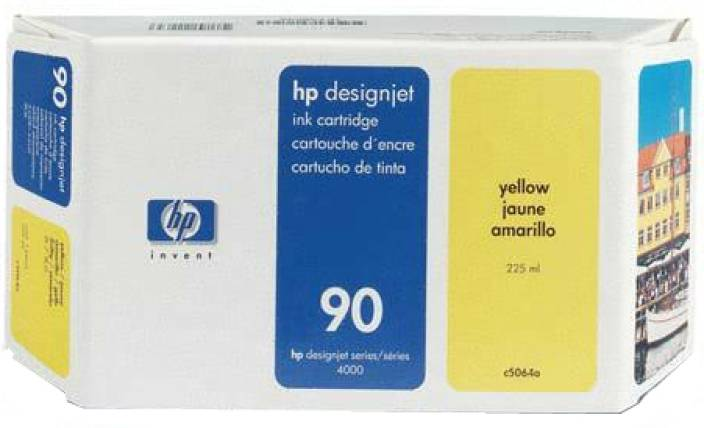 HP 90 225-ml Yellow Ink Cartridge