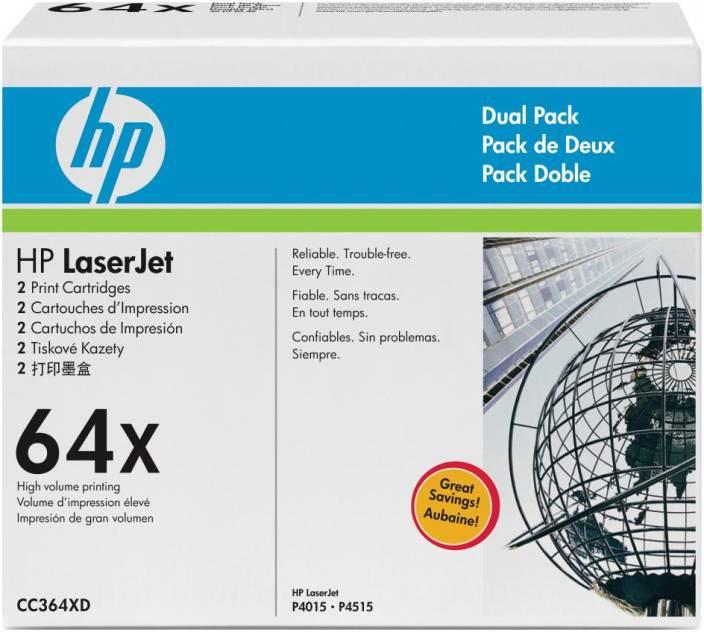 HP 64X Black Dual Pack LaserJet Toner Cartridges