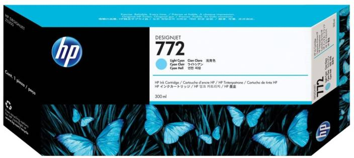 HP 772 300 ml Light Cyan Designjet Ink Cartridge