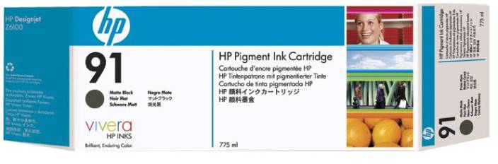 HP 91 3 pack 775 ml Matte Black Ink Cartridges