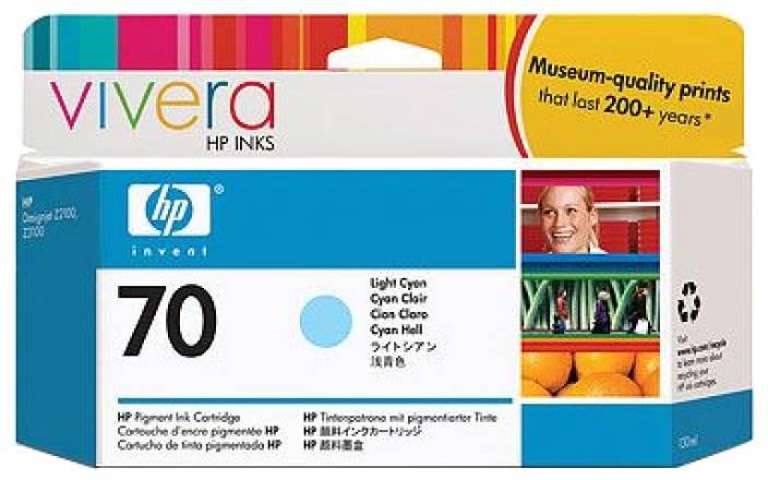 HP 70 Light Cyan Ink Cartridge