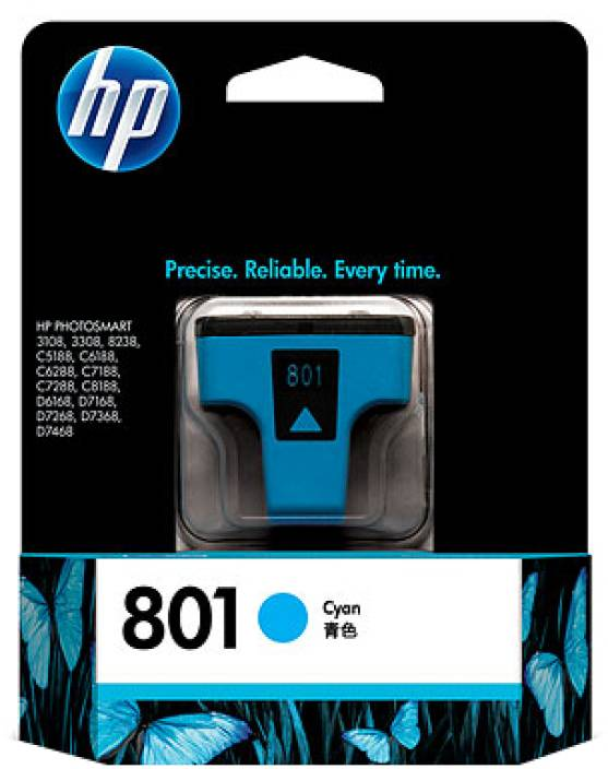 HP 801 Cyan Ink Cartridge