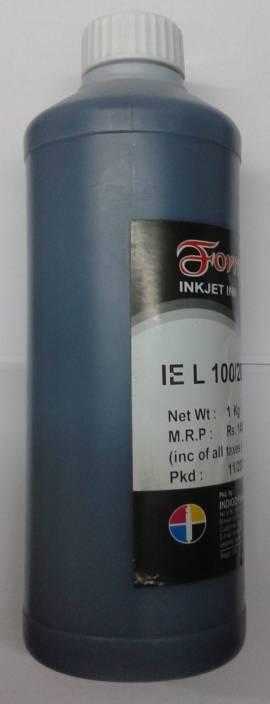 Formujet Refill Ink For Use In Epson L100 / L110 / L200 / L210 / L220 / L300 / L350 / L355 / L365 / L550 - Black Ink - 1 Litre Single Color Ink